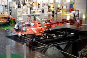 Helicopter Civil Protection exhibited at the City of Sciences de la Villette, Paris