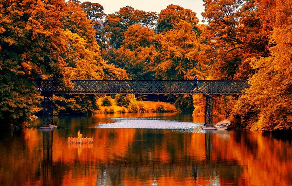 Copenhagen bridge in fall