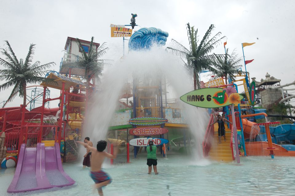 Splash Island at Six Flags Hurricane Harbor