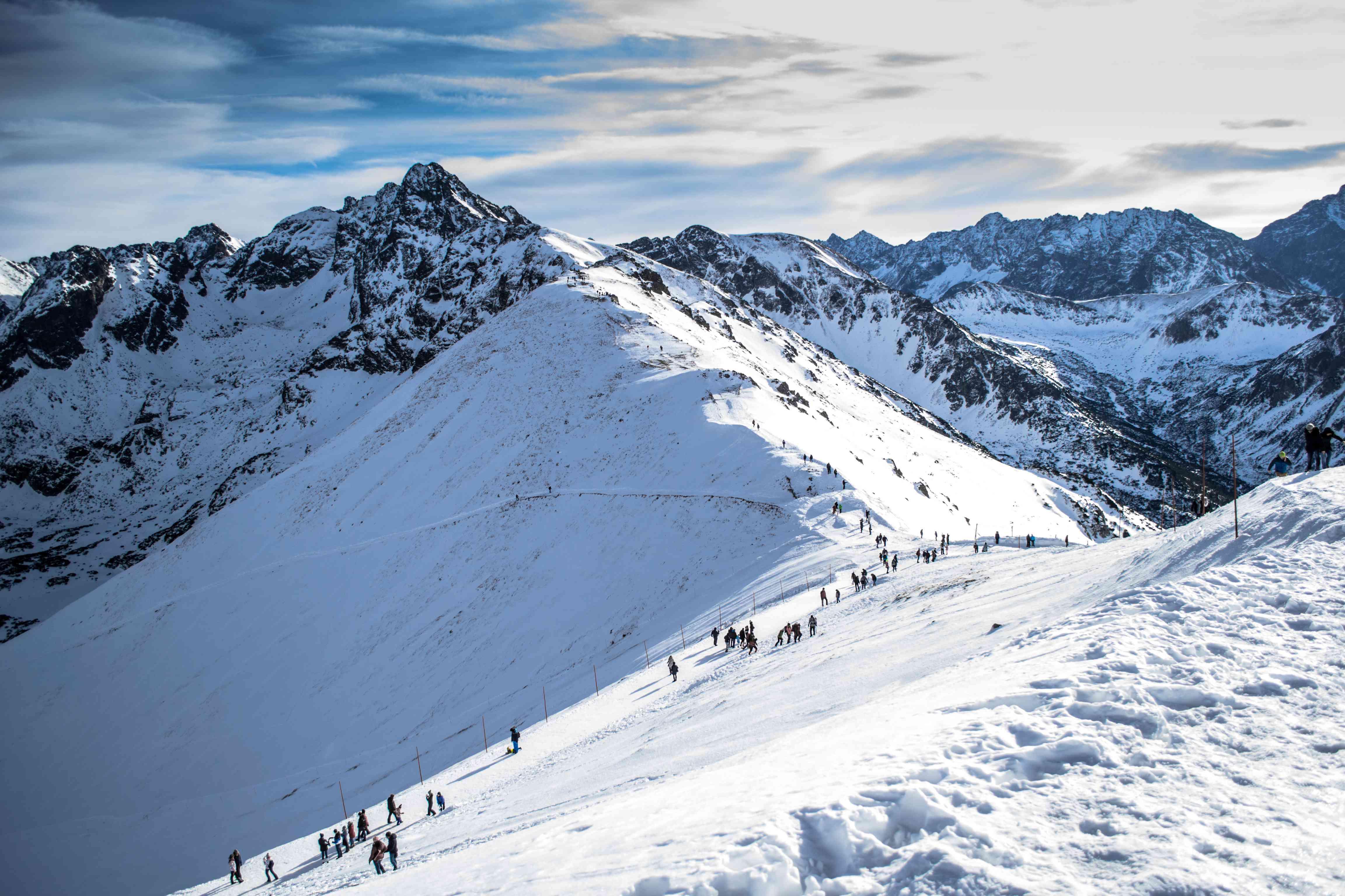 winter ascent of Kasprowy Wierh mountain, Poland
