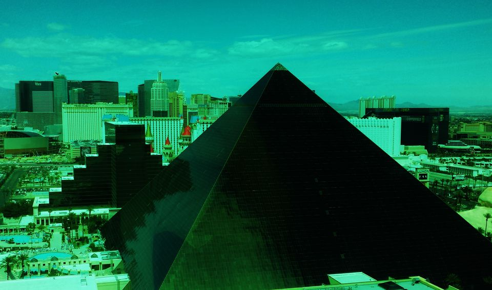 Luxor Las Vegas with a view of the strip