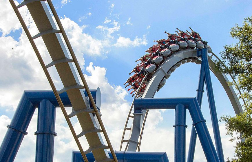 Afterburn coaster at Carowinds