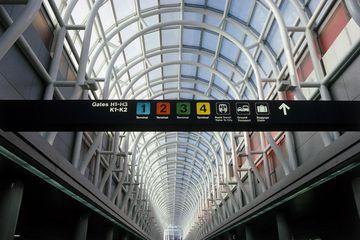 Interior of O'Hare International Airport