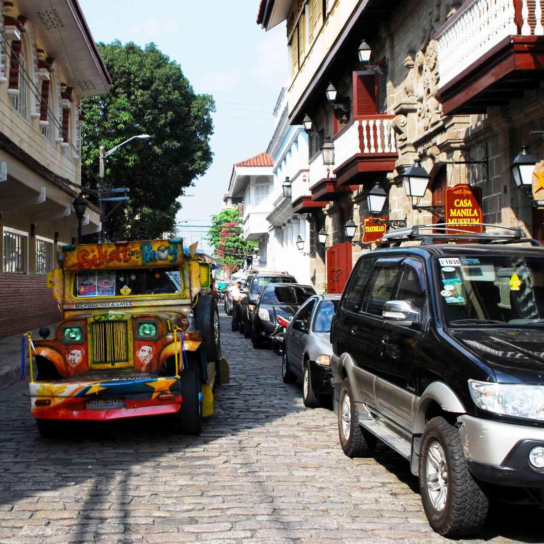 Jeepney on Intramuros, Manila street