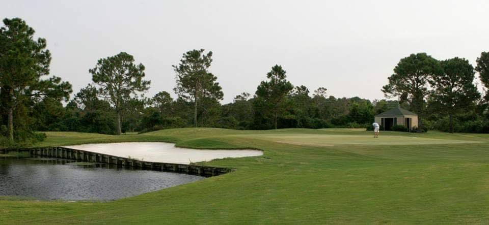 The course at Indian Bayou Golf Club