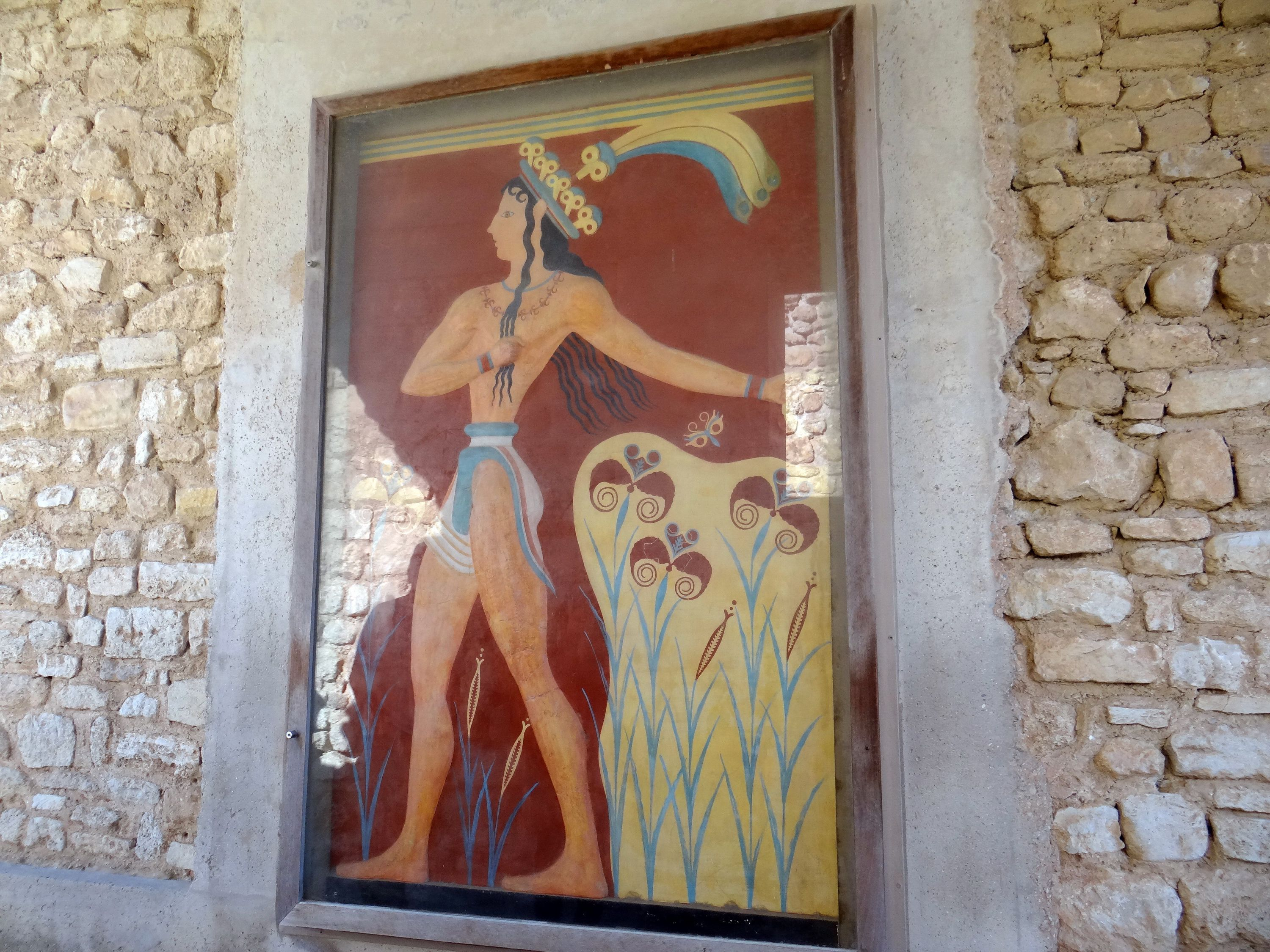 Prince of Lilies at Palace of Knossos, Crete