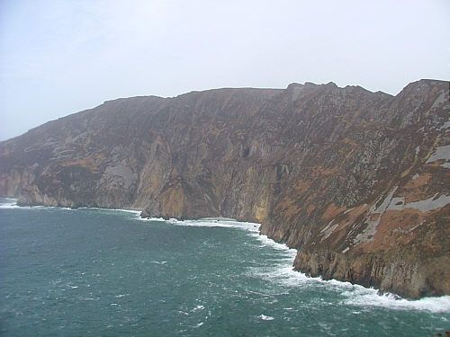 Slieve League in County Donegal - splendid even in a fine mist.