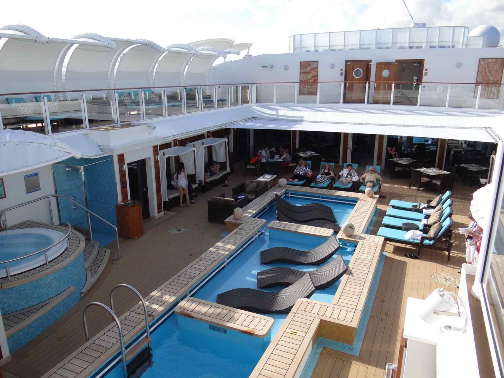 The Haven Courtyard on the Norwegian Getaway cruise ship