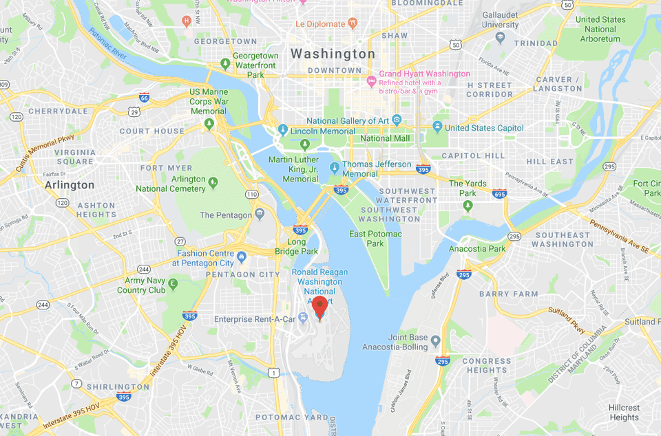Washington, D.C. Airports: Locations, Maps, and Directions