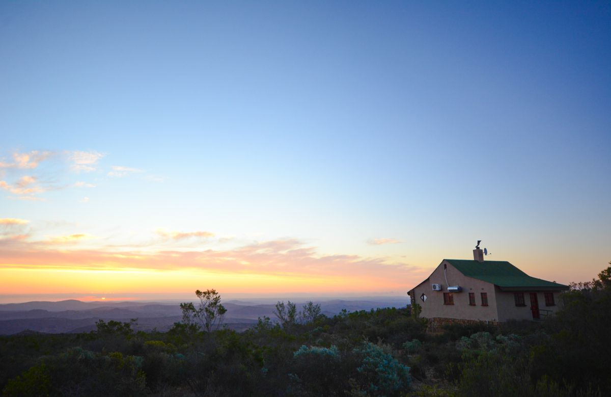 Cabin overlooking a valley in Namaqua National Park
