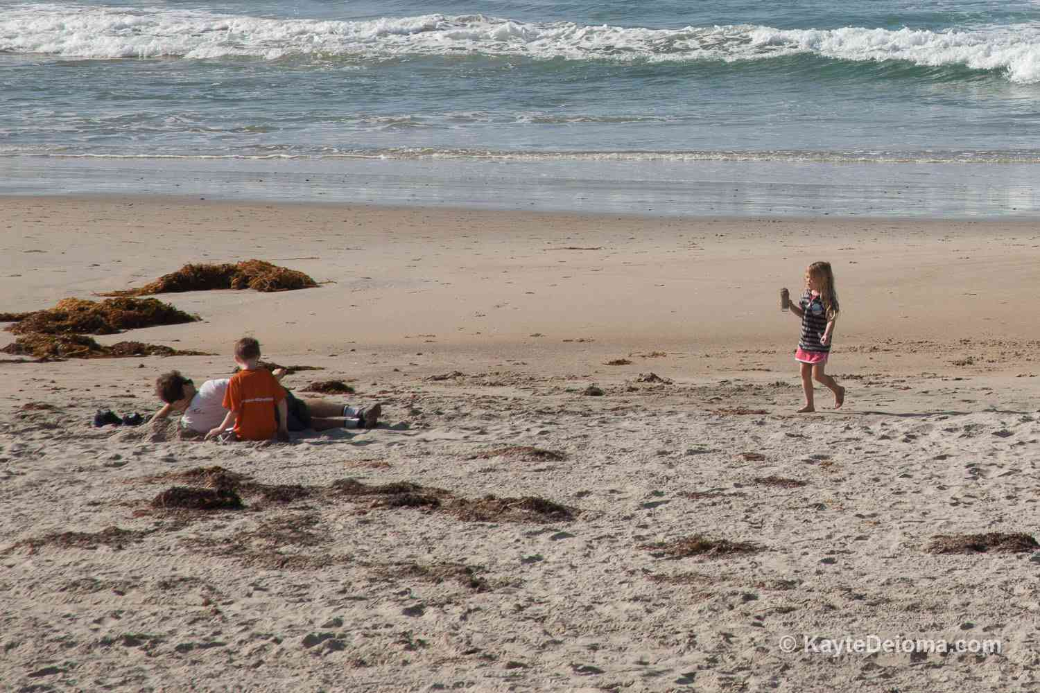 Kids at the Beach in Orange County