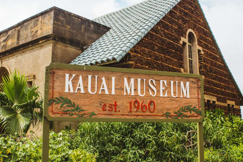 Sign for the Kauai Museum