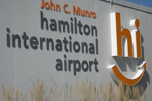 Hamilton International Airport in Ontario.