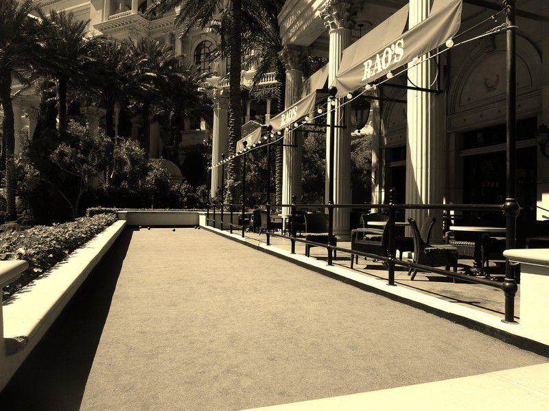 Bocce Court at Rao's at Caesars Palace