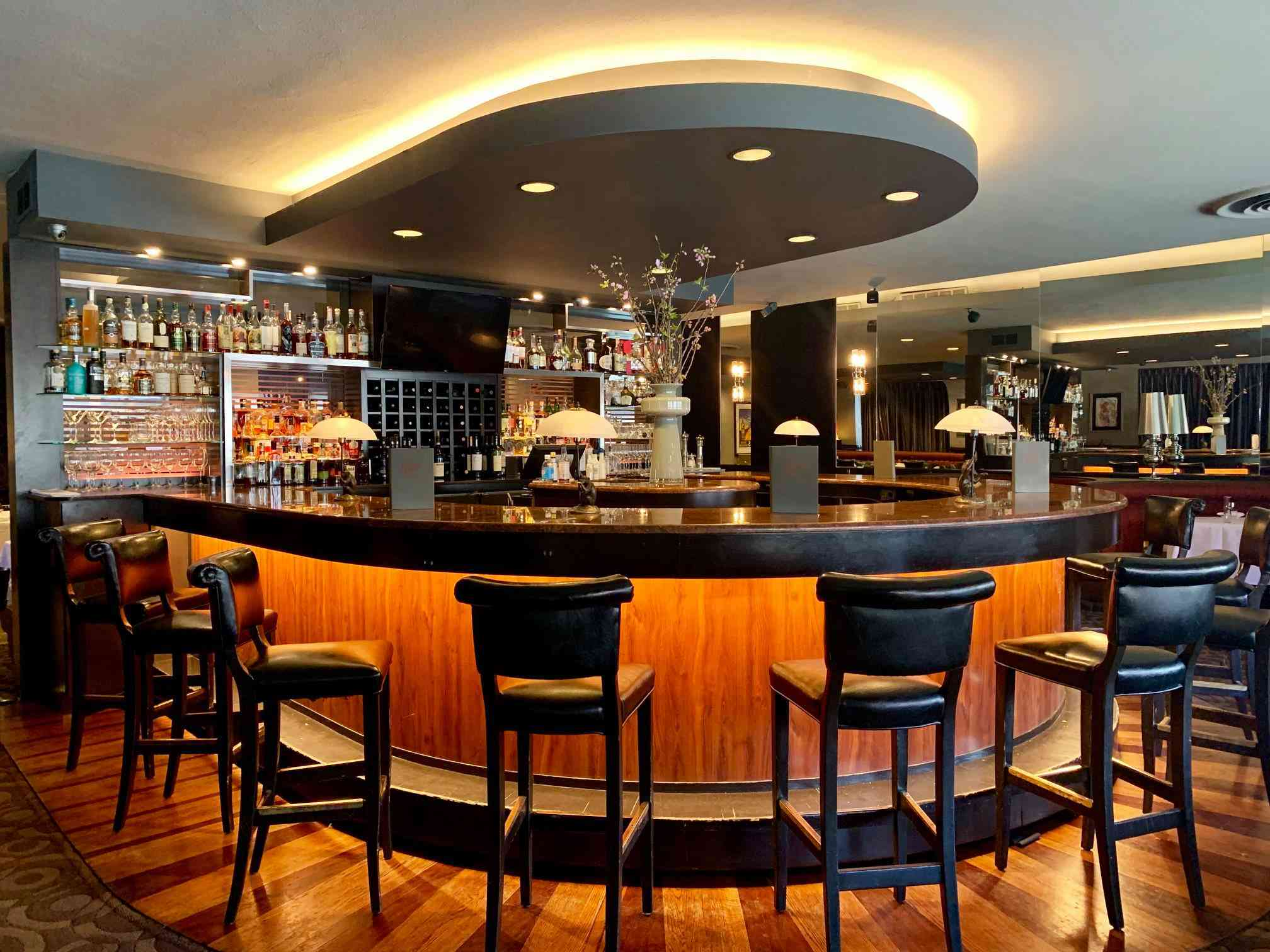 The bar at Oliver's Restaurant
