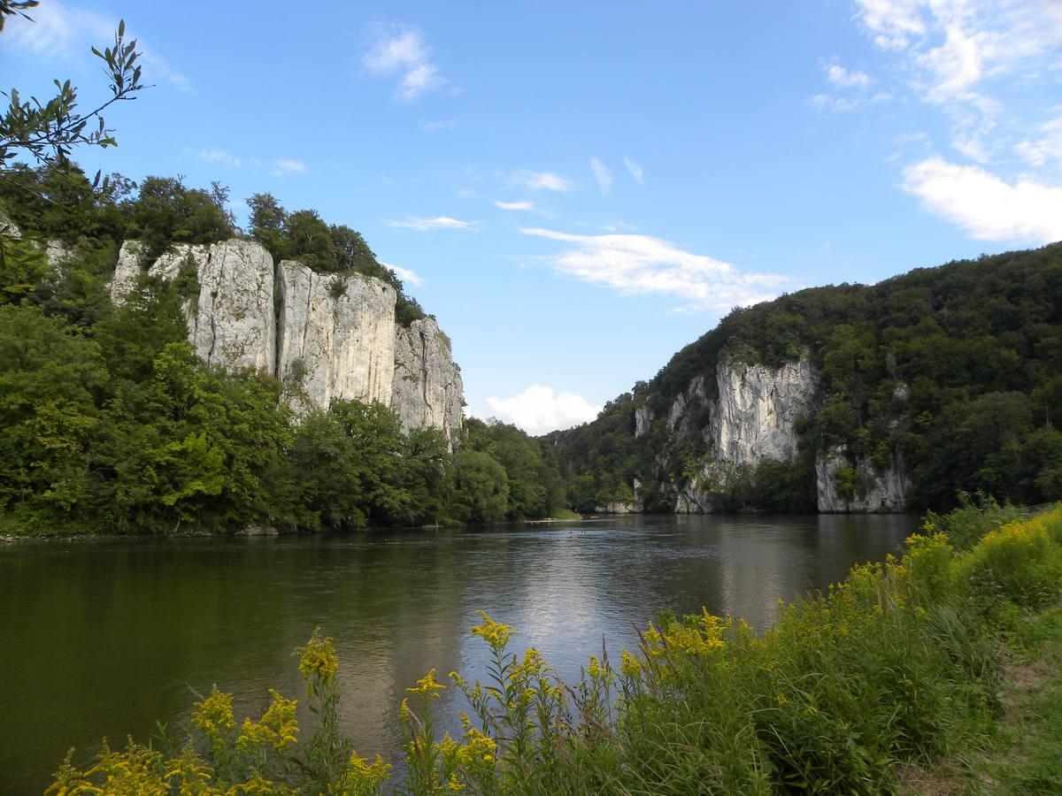 La garganta del Danubio cerca de Weltenburg y Kelheim, Alemania