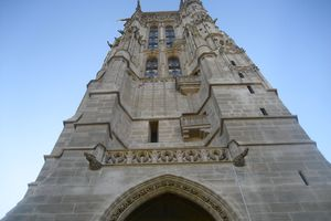 The Tour Saint-Jacques is situated in the center of Paris, near the area known as Chatelet.