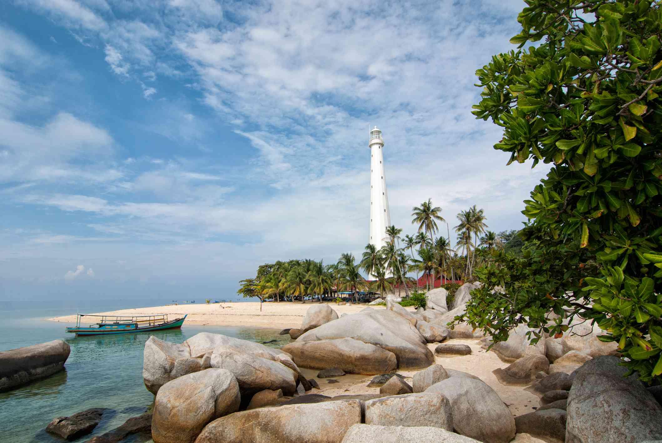 Lighthouse on Lengkuas island near Tanjung Kelayang, Belitung