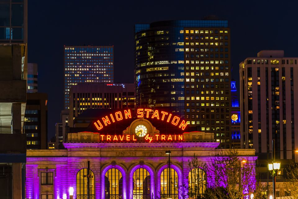 Denver Union Station and buildings in Downtown Denver