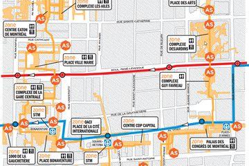 Montreal underground city map.