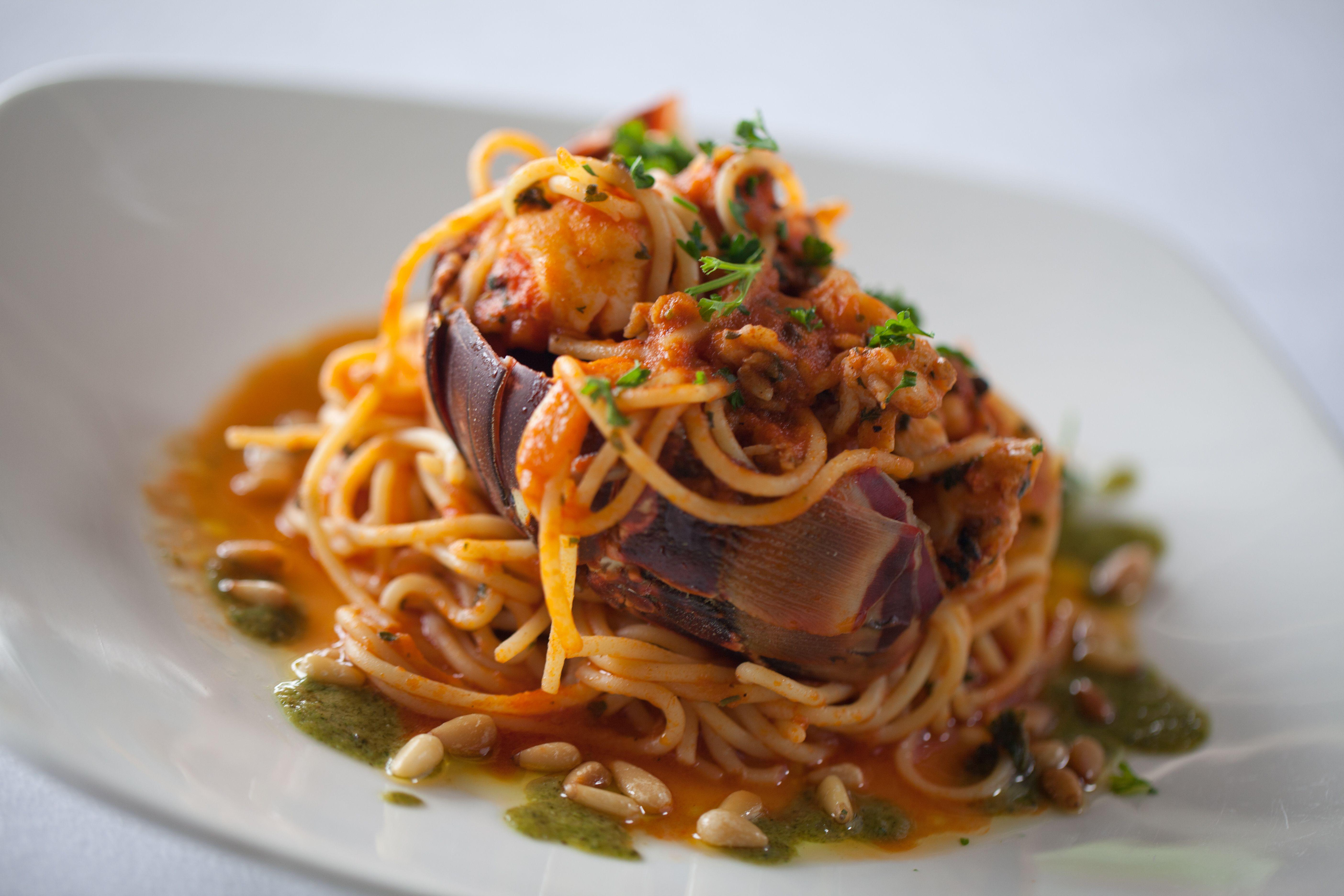 Pasta dish at Daphne's