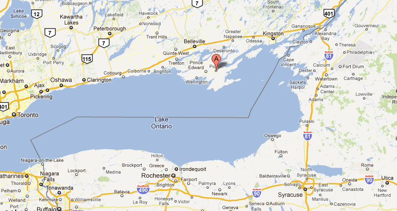 Map Of Prince Edward County Prince Edward County, Ontario Travel Guide
