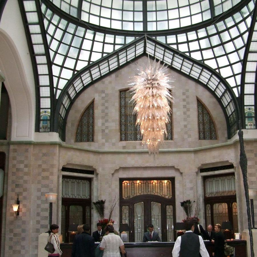 Gresham Palace Four Seasons Hotel Lobby in Budapest