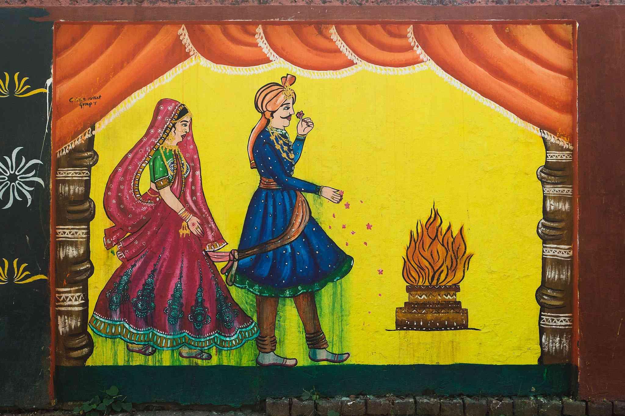 Street art in Gorakhpur.