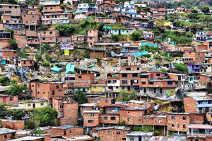 A view of the favela outside of Medellin