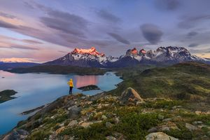 Torres Del Paine National Park During Sunrise, Patagonia, Chile
