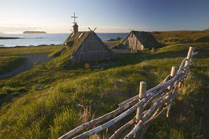 Viking Trail, Vikings, Norstead Viking Site, LAnse-aux Meadows, Northern Peninsula, Newfoundland, Canada.