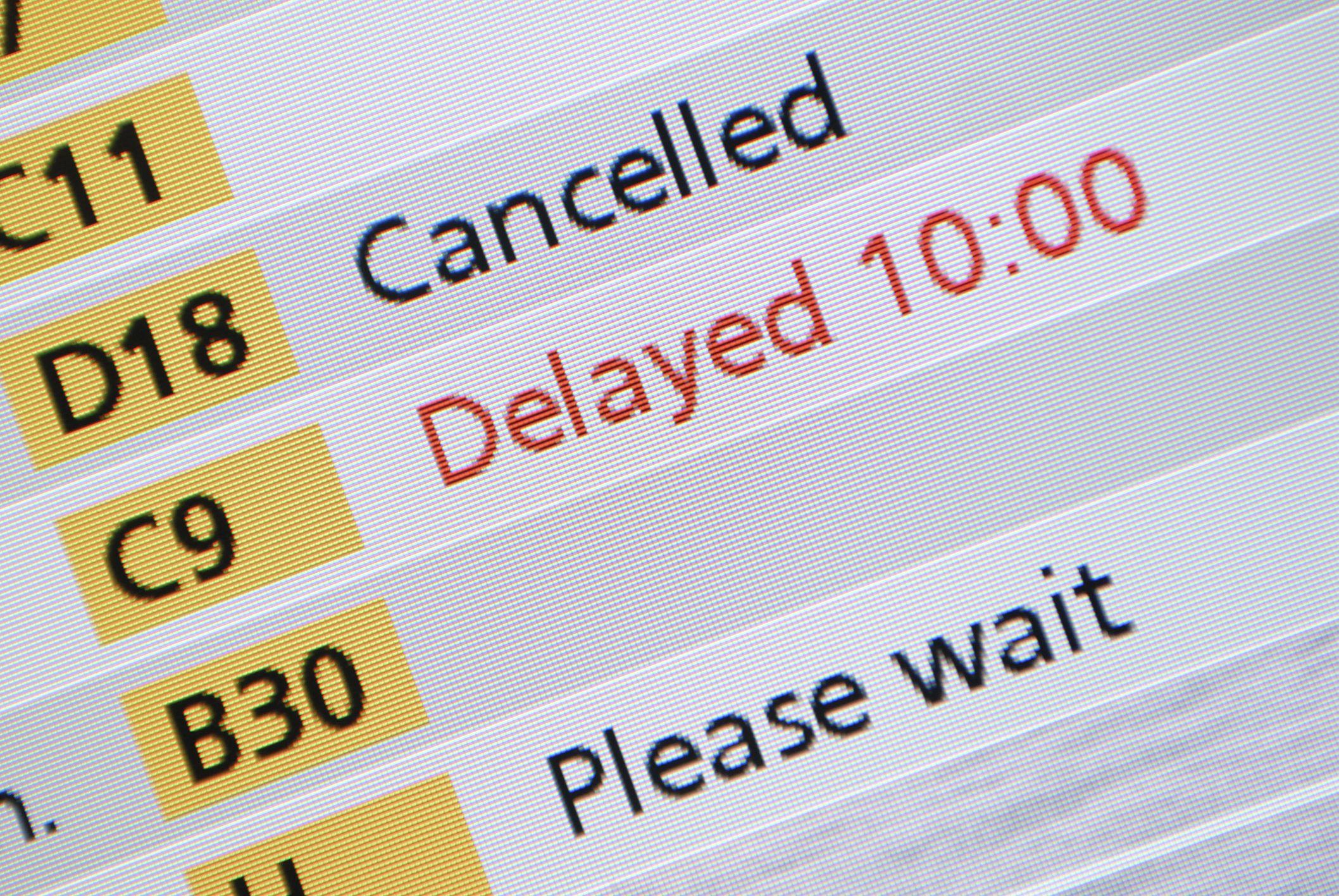 Flight departure board, Schiphol Airport, Amsterdam