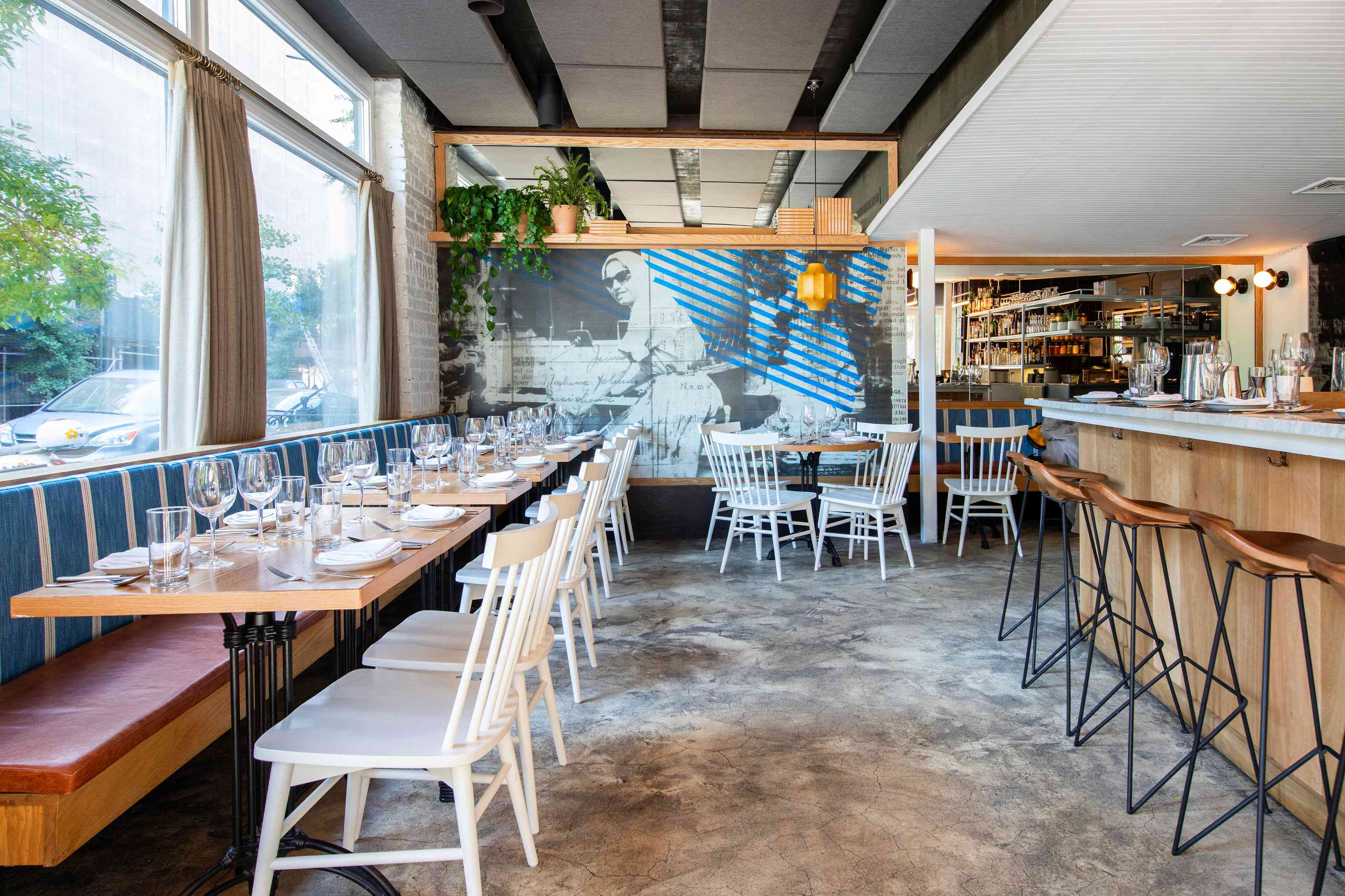 Empty dining room and bar at Balaboosta in the West Village