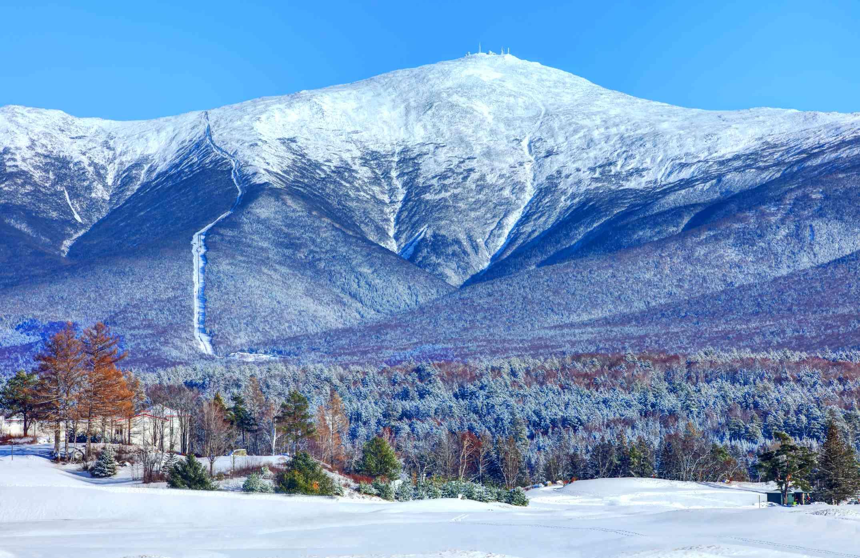Mount Washington - Winter Scene in the White Mountains