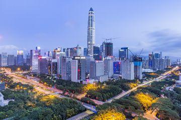 Elevated View of Shenzhen Skyline
