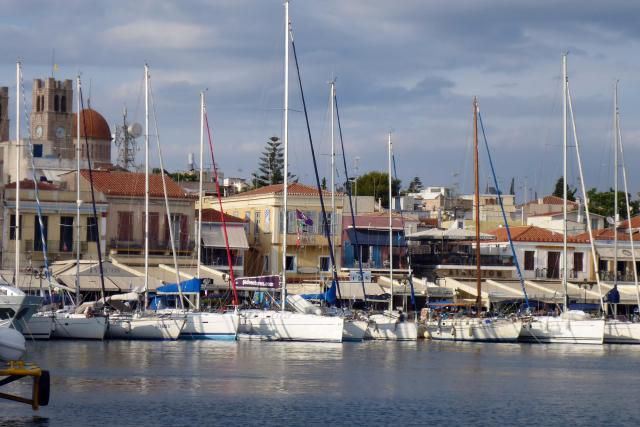 G Adventures Baltra at the Dock in Aegina Town