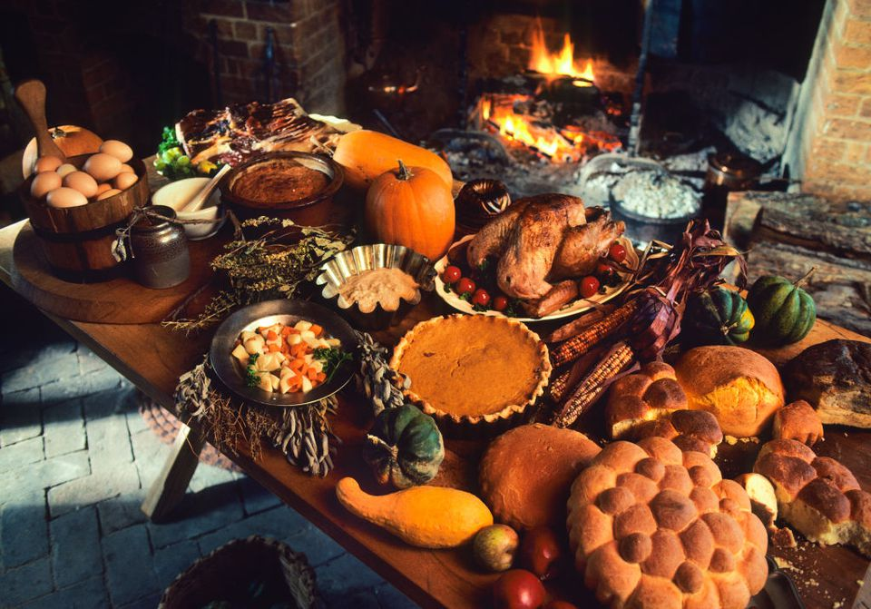 traditional colonial thanksgiving dinner at colonial williamsburg virginia
