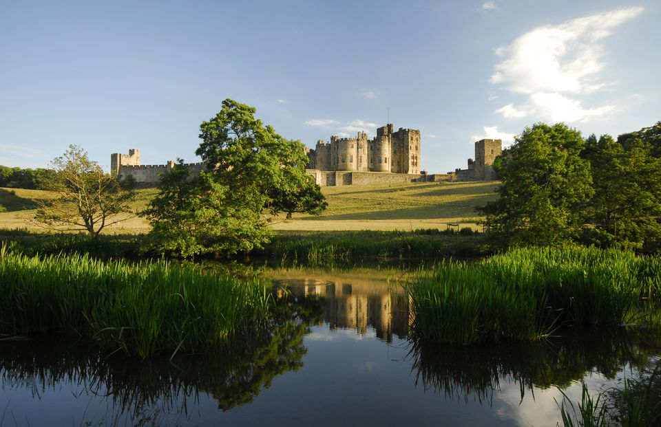 The river Aln next to Alnwick Castle