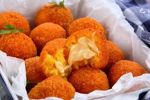 arancini - saffron rice balls stuffed with cheese