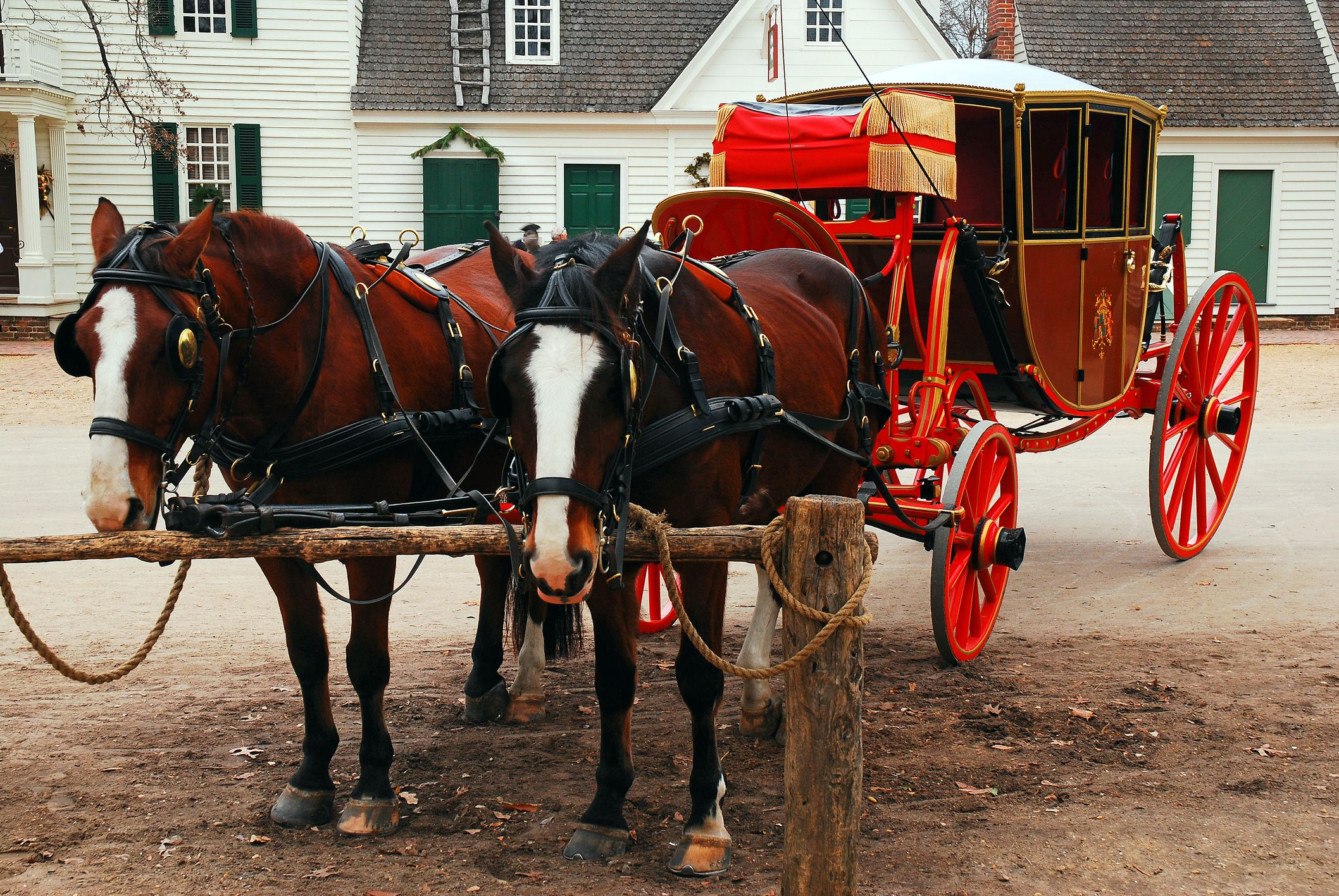 Christmas Horse Carriage