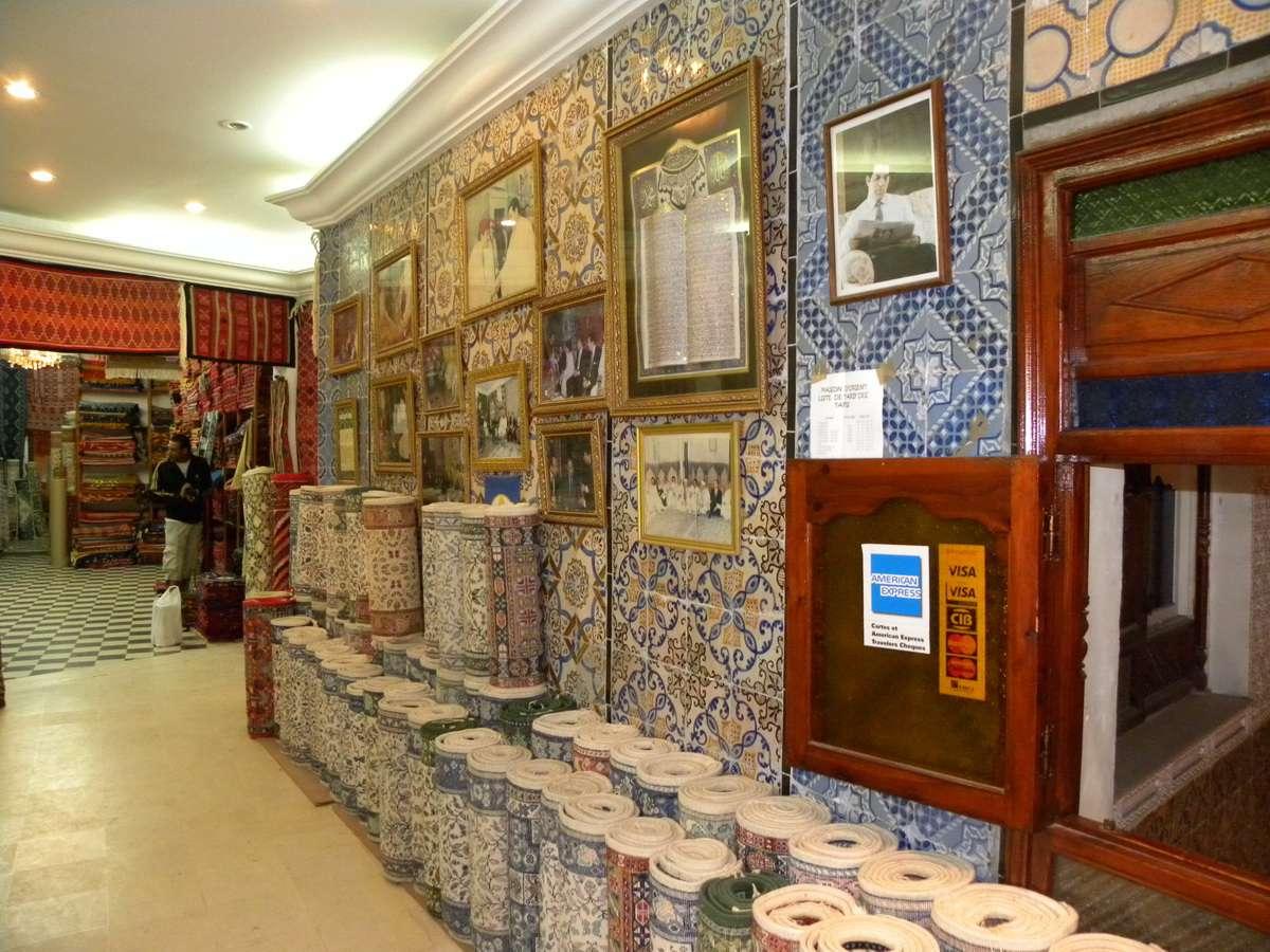 Medina of Tunis - Souk Rug Shop