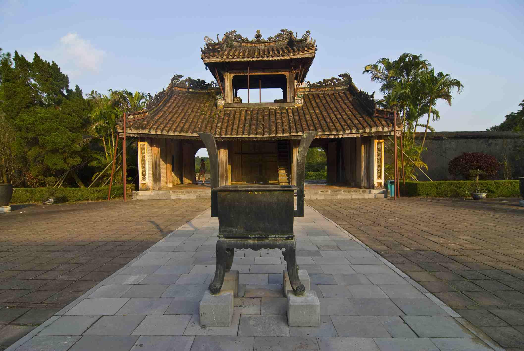 Hoa Khiem Palace and Courtyard, Tu Duc Royal Tomb, Hue, Vietnam