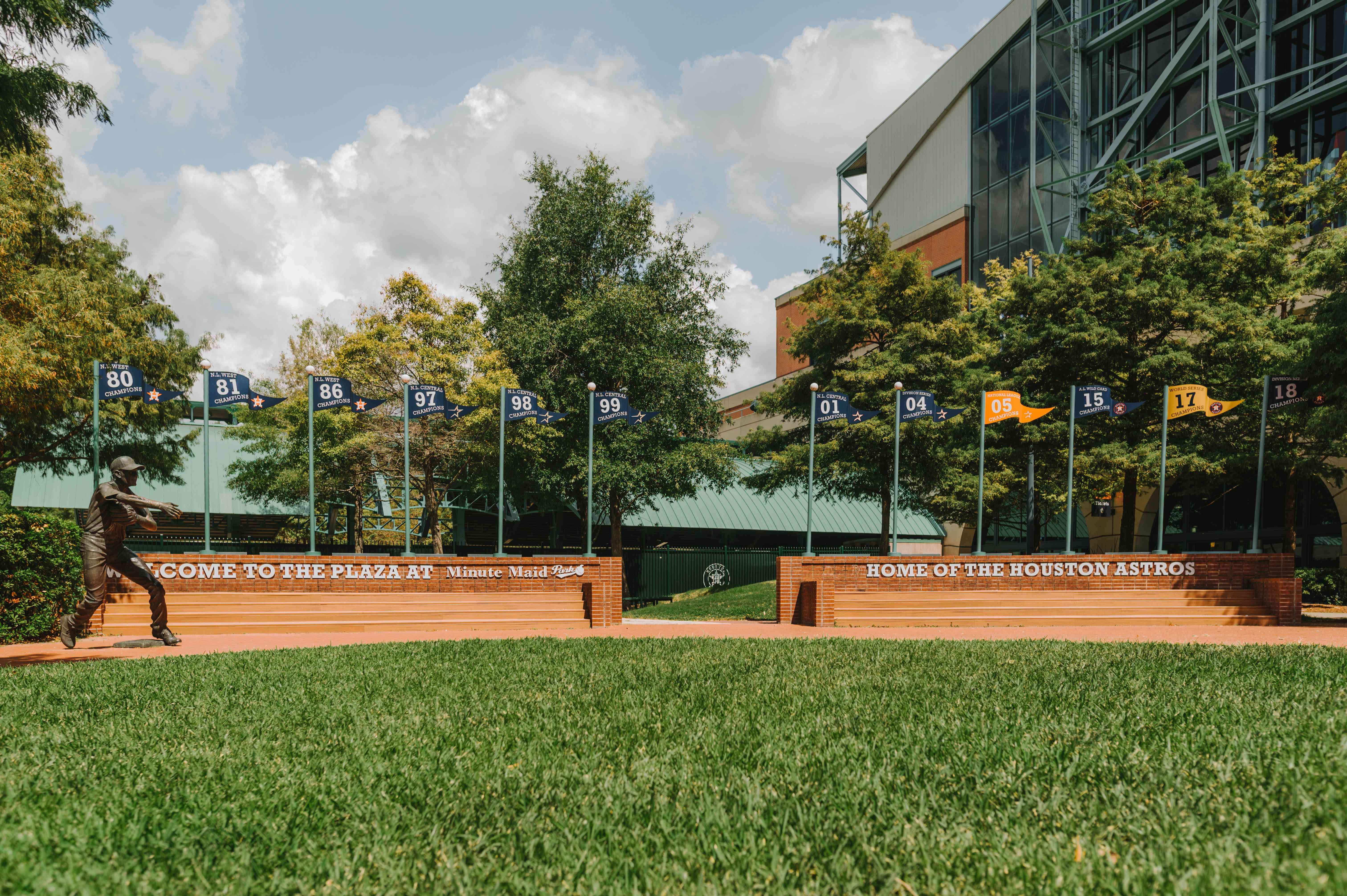 Entrance to the Astros stadium