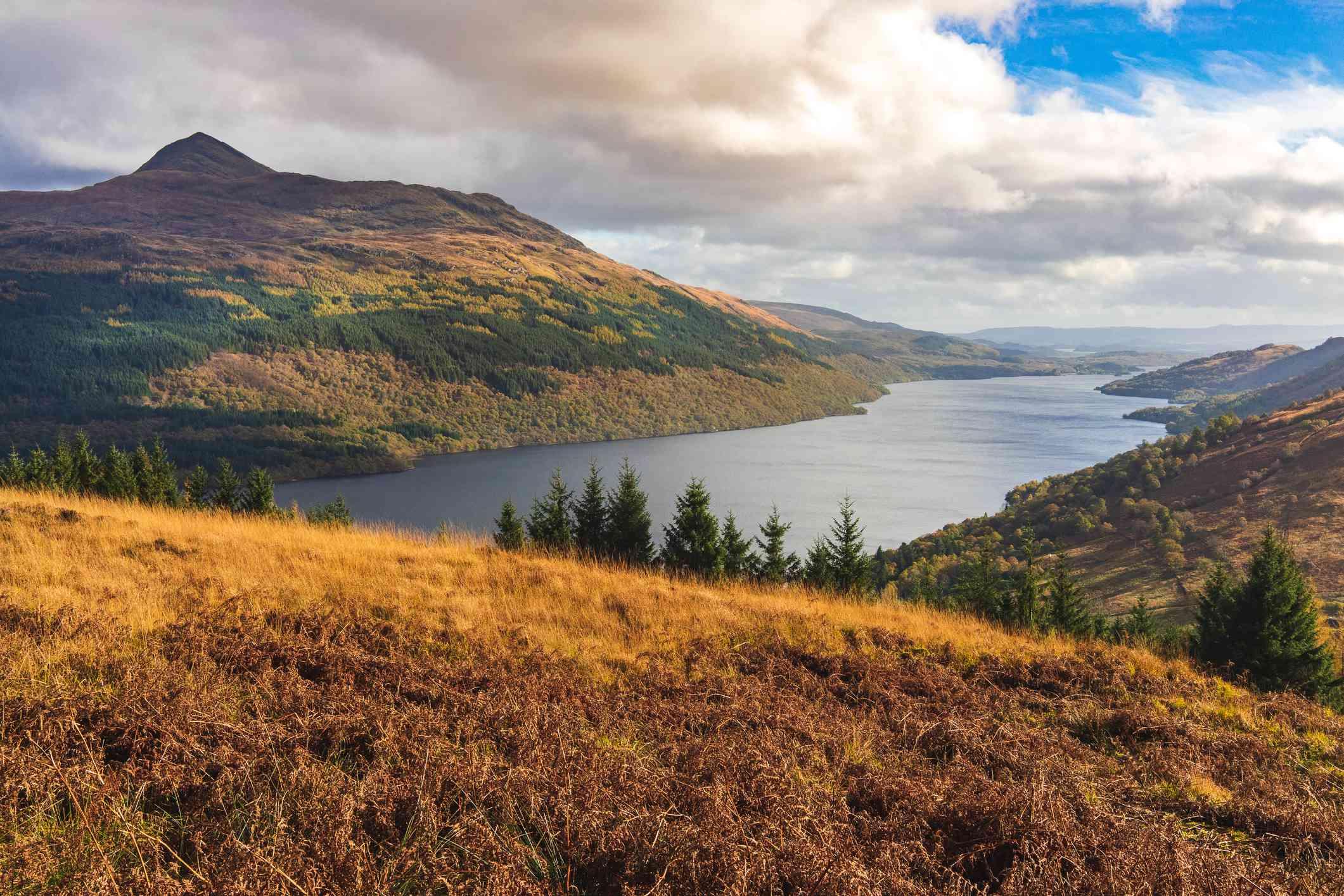 Loch Lomond in the autumn, Scotland