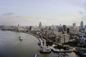 Shanghai's Huangpu River and Bund district