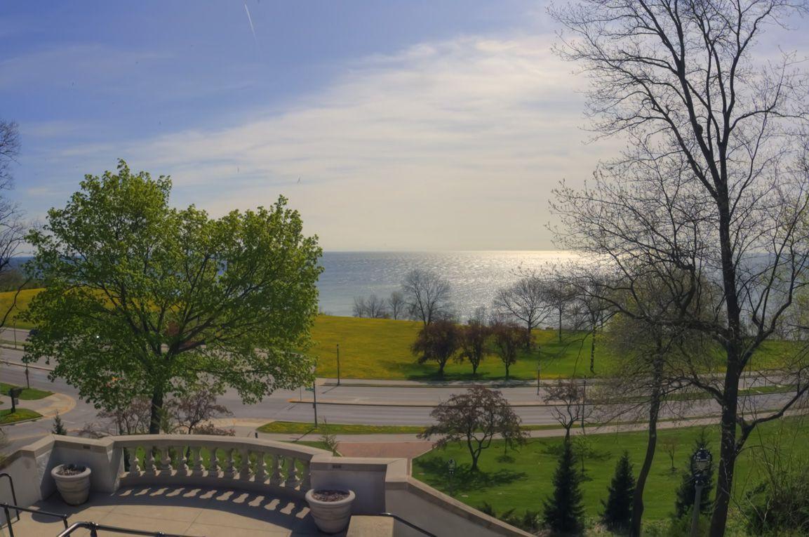 View of Lake Michigan from Lake Park, Milwaukee