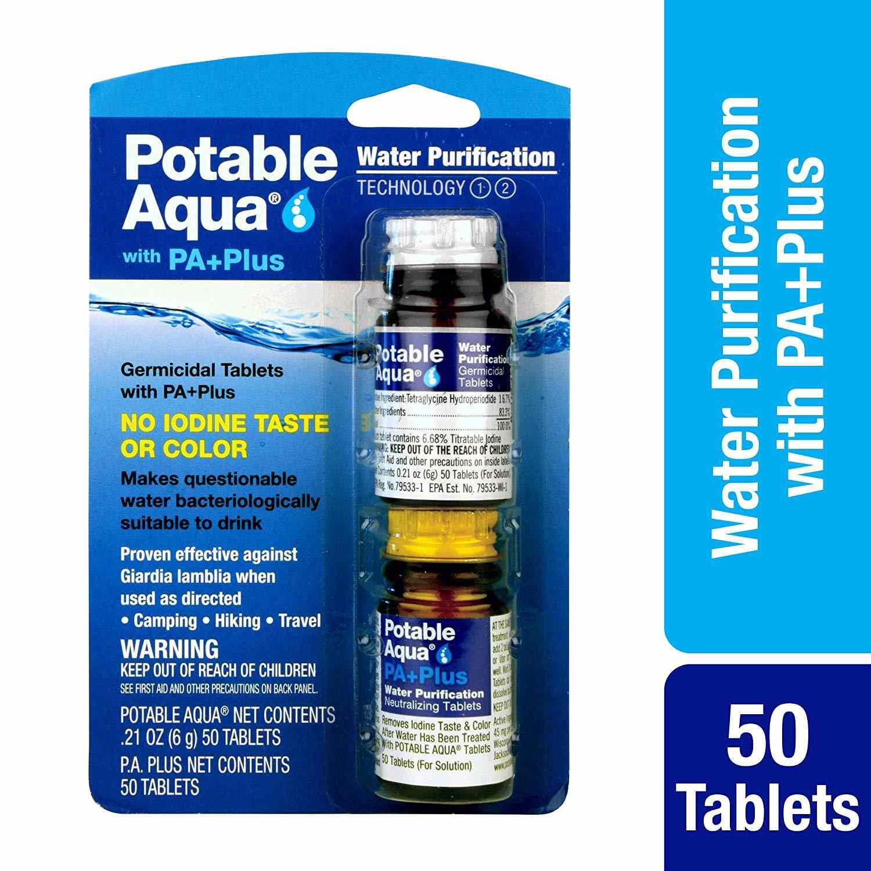 Tabletas de purificación de agua Potable Aqua