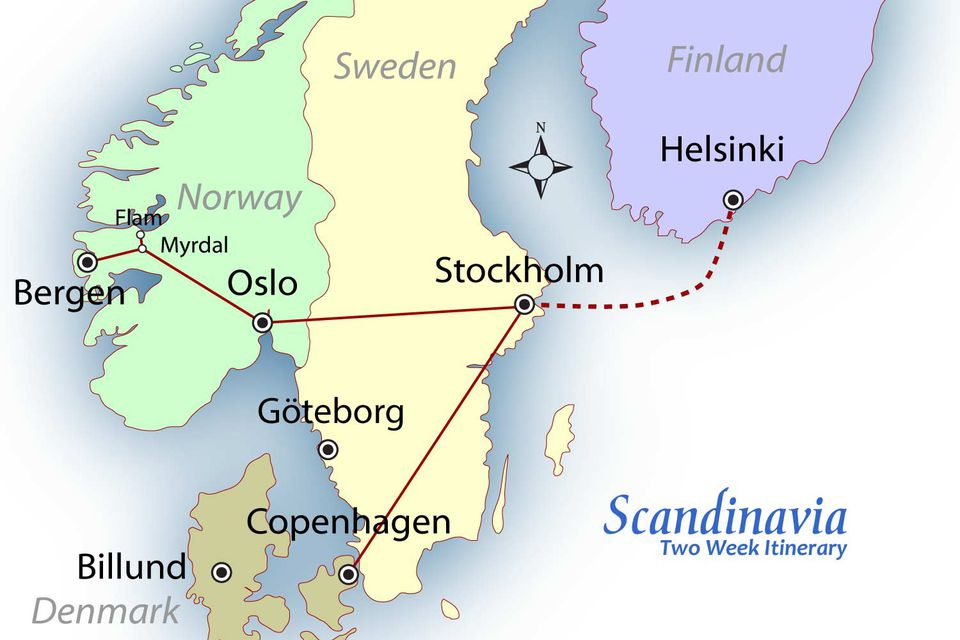 Scandinavia Itinerary Map: Suggested Routes