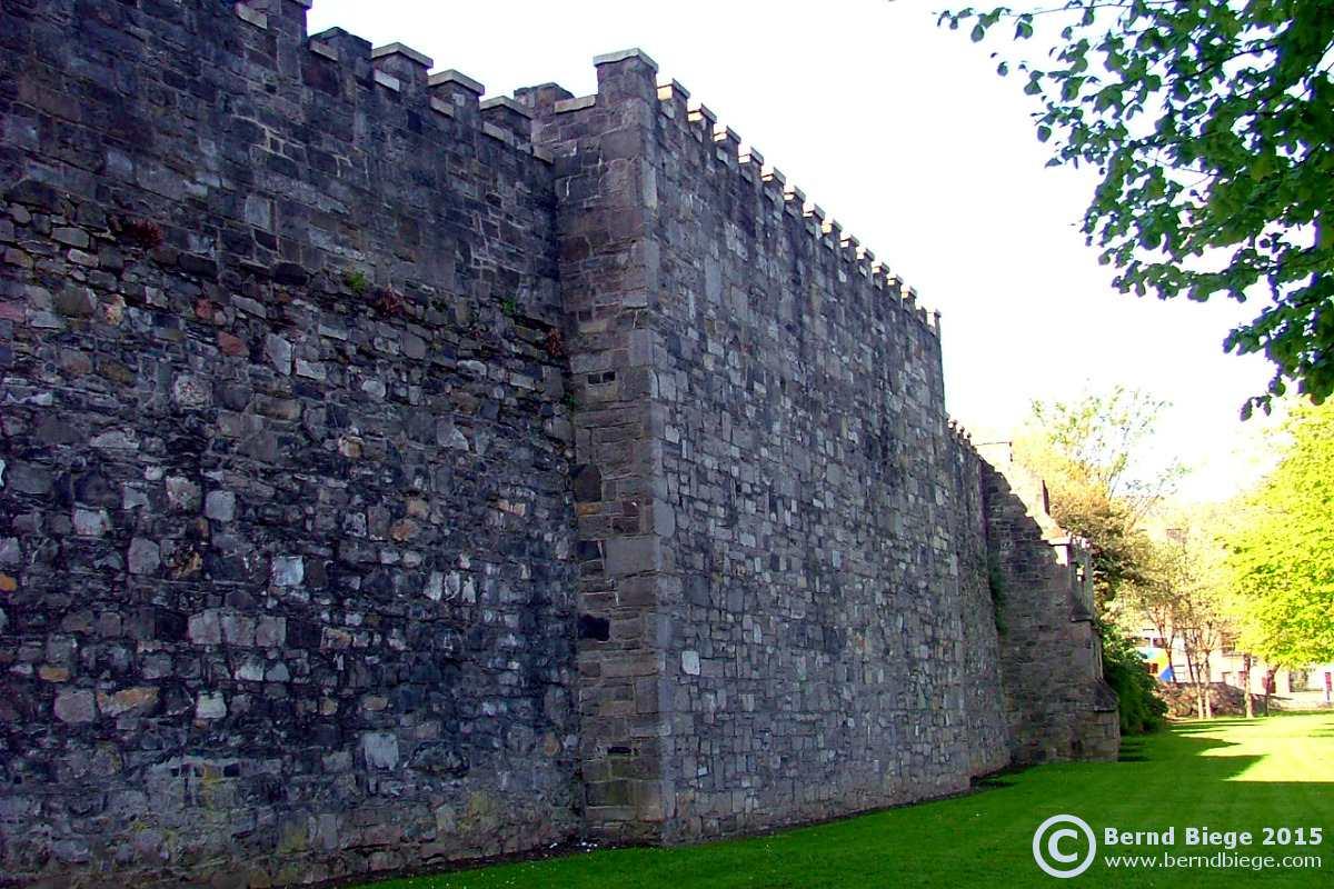 Dublin's city walls - bordering St. Audoen's Park.