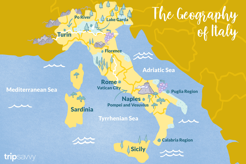 Italienska Geografi Karta Fakta Och Klimat